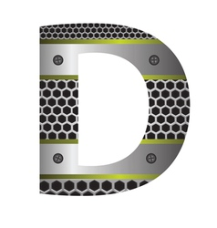 perforated metal letter D vector image vector image