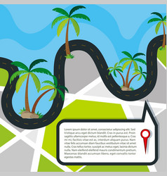 roads around water concept vector image