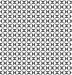 Seamless geometric monochrome curved shape pattern vector