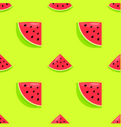 Seamless pattern with hand drawn watermelon vector