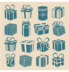 Silhouette gifts vector