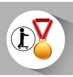Skater medal sport extreme graphic vector
