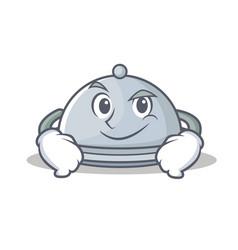 Smirking tray character cartoon style vector