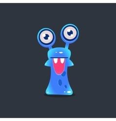 Snai-like alien monster vector
