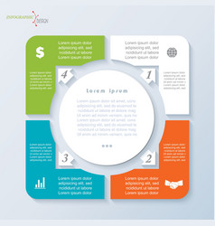 Template infographic with four segments vector