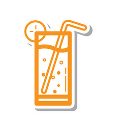 Thin line cold drink icon vector
