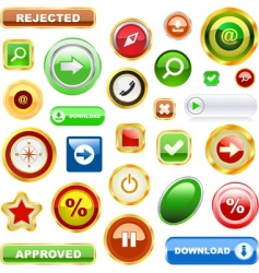 vector collection of web elements vector image vector image