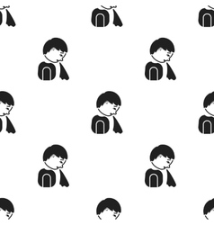 Vomiting icon black single sick icon from the big vector