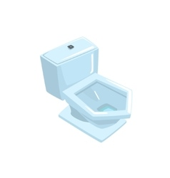 White ceramic toilet bowl vector