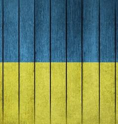 Wooden Grunge Flag Of Ukraine vector image