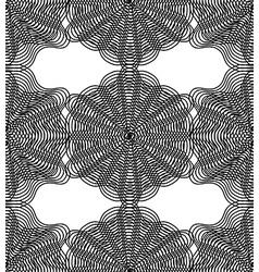 monochrome stripy endless pattern art continuou vector image
