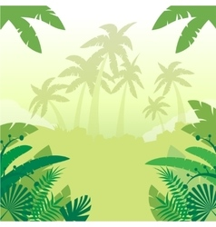 Jungle Flat Background3 vector image