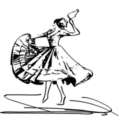 Woman dancing marinera vector