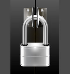 Padlock on the scales vector