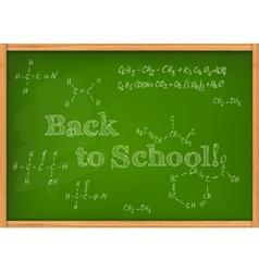 Class chalkboard vector