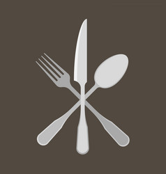 fork spoon and knife vector image