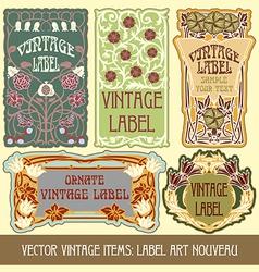 vintage items vector image