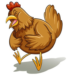 Brown fat hen vector