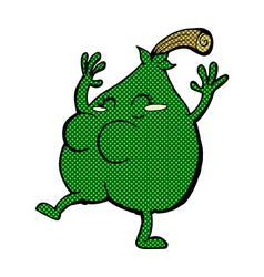 A nice pear comic cartoon vector