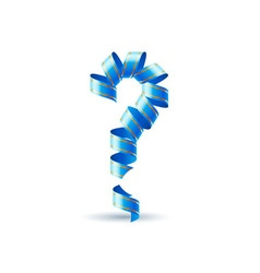 Question mark made of spiral ribbon vector
