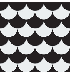 Abstract background from black and white circles vector