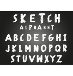 Scribble sketch alphabet vector