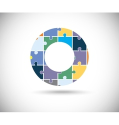 Abstract color circle vector image vector image