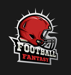 american football modern logo fantasy football vector image vector image
