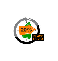 Black friday discount 20 percentage vector