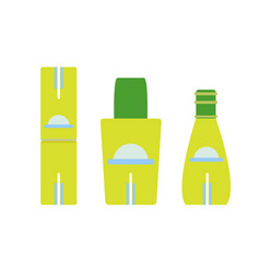 bottle set cosmetic icon isolated glass design vector image vector image