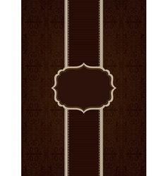 Brown elegant decorative background vector image vector image