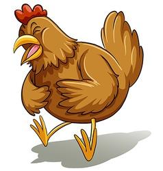 Brown fat hen vector