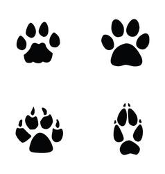 cat jaguar dog fox footprint vector image vector image