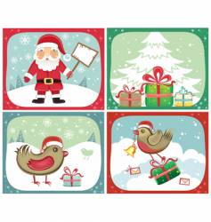 Christmas cards sets vector image vector image