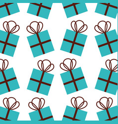 christmas gift box celebration decoration seamless vector image
