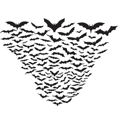 Cloud of bats vector image