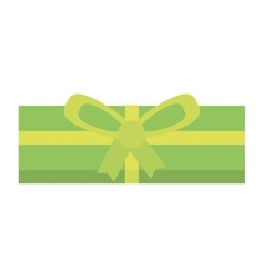 Colored gift box green ornament bow vector