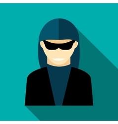 Hacker icon flat style vector