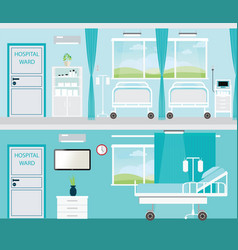 hospital room with beds vector image