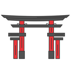 japanese portal isolated icon vector image