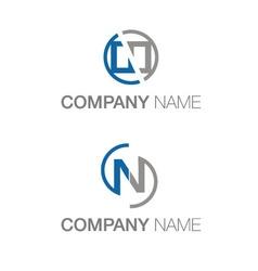 Letter n logo variate vector