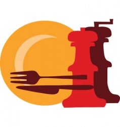 restaurant meals vector image vector image