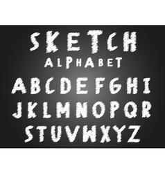 Scribble sketch alphabet vector