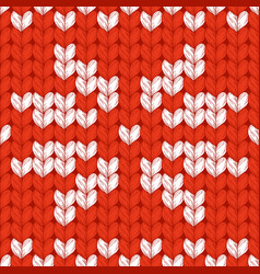 seamless christmas knitted pattern vector image