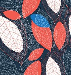 Seamless graphic pattern of autumn leaves vector image vector image