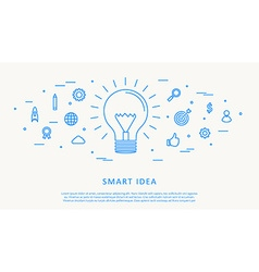 smart idea thin line design vector image vector image