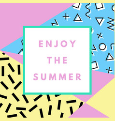 Summer greeting card vector