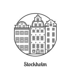 Travel stockholm icon vector