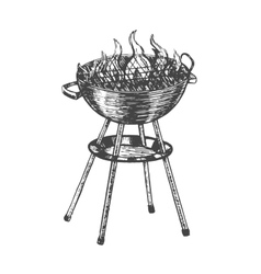Barbecue Hand Draw Sketch vector image