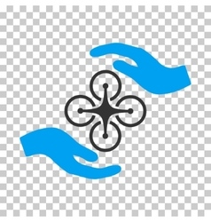 Air copter care hands icon vector